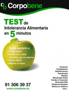 Test de intolerancia alimentaria en el centro de estética Corpobene