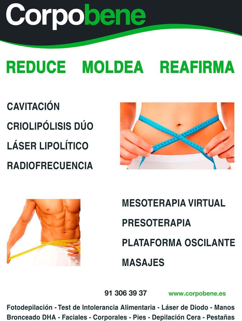 Tratamientos corporales en centro de medicina estética Corpobene en barrio de Las Rosas en Madrid