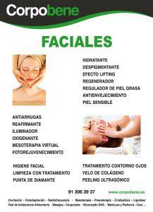 En Corpobene disponemos de varios tratamientos faciales