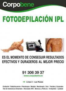 Fotodepilación IPL en centro de estética en Las Rosas, Madrid