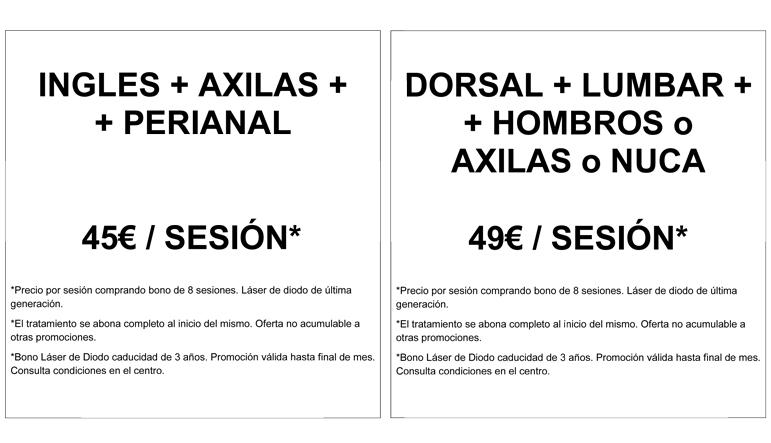 Promociones para depilación láser de diodo en centro de medicina estética en Madrid